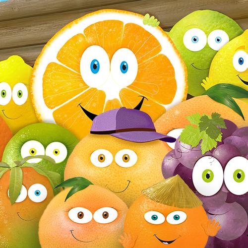 Livre interactif pour enfant, Patate qui part à l'aventure avec des agrumes